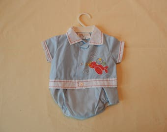 Vintage Baby Sailor Boy Outfit with Hanger