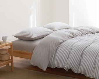 check bedding new amp tartan cover duvet checked sets quilt pillowcase itm striped