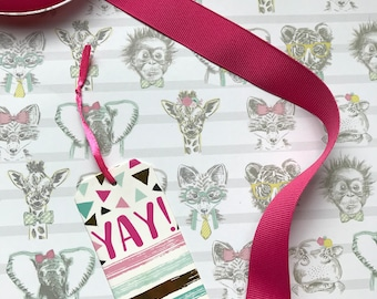 Yay Animals Gift Wrap Add-On for NiftyNarwhalTM Items