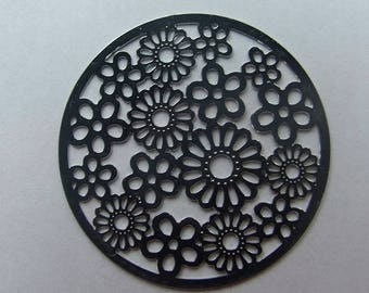 Disc 31 mm flower filigree
