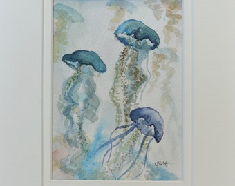 """Watercolor- """"Jellyfish"""""""