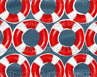 Life preserver digital paper, life preserver ring, lake digital background, camping digital paper, lake house decor, lake art