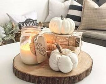 """8  Wood Slices 10"""" to 12"""" Rustic Fall Décor Rustic Home Decor Diy Fall Decor"""
