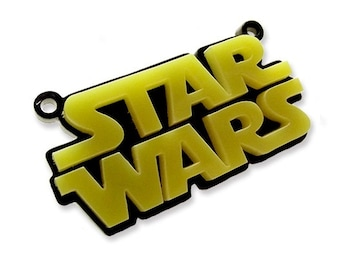 Star Space Wars laser cut double layer charm.