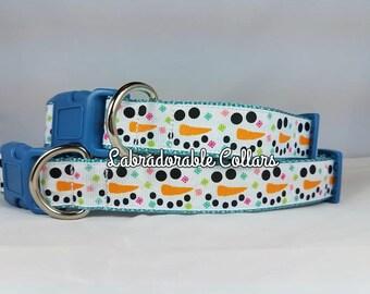 Christmas Dog Collar Winter Dog Collar Snowman dog collar