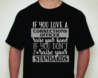 Love a Corrections Officer T-shirt-Corrections Officer T-shirt-Corrections Apparel