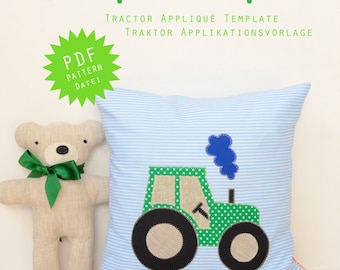 PDF Applique Template - Tractor