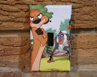 Lion King Timon and Rafiki Light Switch Cover, Lion King Nursery, Lion King Decor, Lion King Baby Shower, Rafiki, Lion King Decoration, LK12