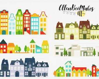 12 Mini House Border Stickers