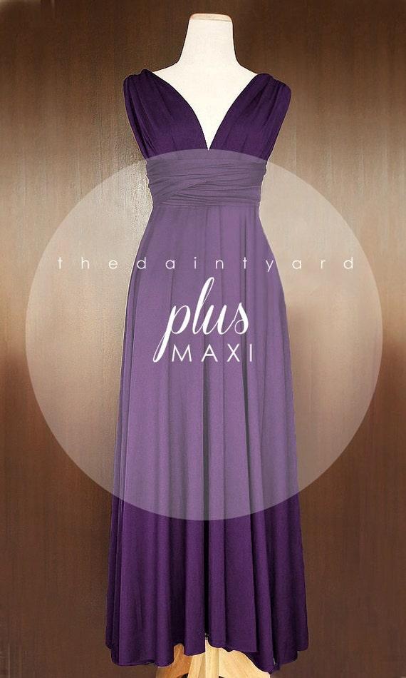 MAXI Plus Size Grape Bridesmaid Dress Convertible Dress