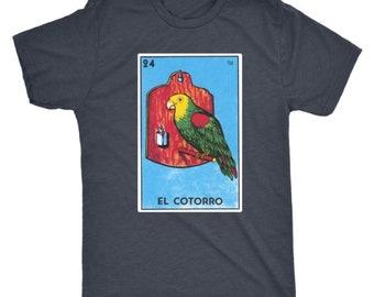 El Cotorro Card Loteria T-Shirt Parrot Mexican Bingo Bird