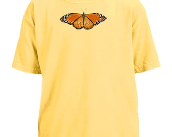 Monarch Butterfly youth garment dyed t-shirt