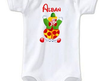 Clown personalized with name Bodysuit