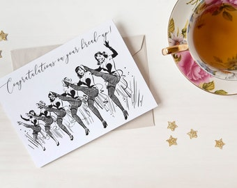Congratulations on your break-up! Card - Inside: We've never been so proud! - Break-up - Divorce - Support from Friends