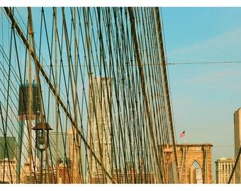 Landscape Photograph - New York Photography - Brooklyn Bridge Art- Bridges Of NYC Part 7 - Fine Art Photograph  - New York City Art - Bock