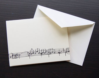 Clair De Lune by Claude Debussy Music Note Card: Classical