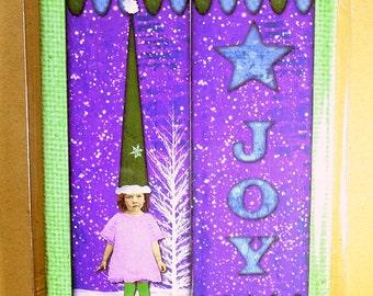 Joy Mini Canvas Magnet - Two by Three Inch