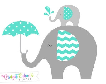 Elephant clipart, Baby elephant clipart, Elephant clip art, baby shower clipart, baby clipart, Commercial Use, INSTANT DOWNLOAD