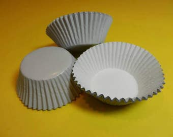 48 White Foil Cupcake Liners Cups Cake Wrappers Supplies Jenuine Crafts