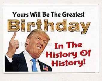 Donald Trump, Funny Birthday Card, Trump Birthday Card, Trump Birthday Gift, Trump Cards For Clients, Trump Card For Boss, Trump For Family