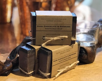 Dark Chocolate and Espresso - Handmade Natural Goats Milk Soap