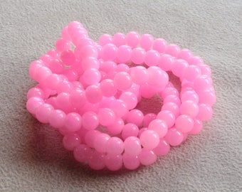 20 designs for 6mm pink glass beads