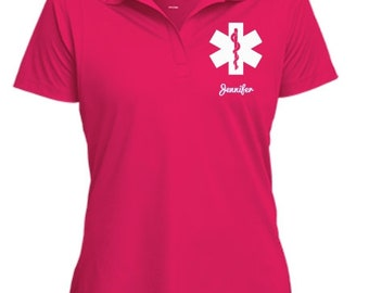 Emergency Medical Technician Polo/Medical Technician Shirt/Medical Technician Caduceus Personalizable Shirt/Medical Technician gift  PRN-079