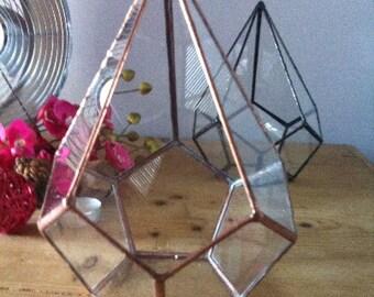 Geometrische Glasterrarium, kleine Träne Terrarium, Hochzeitsdekoration, Terrasse Dekor, indoor-Garten, städtische Glas Übertopf