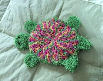 Turtle Bath Scrubby Mitt