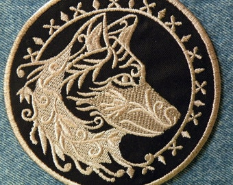 """Spirit Wolf Iron on Patch 4.5"""" and 7.9"""""""