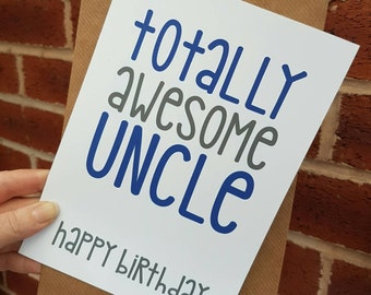 Totally awesome uncle birthday card