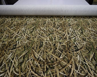 """Mossy Oak Shadow Grass Blades 13 oz Cotton duck fabric, heavy weight 100% cotton 68""""wide sold by the yard"""