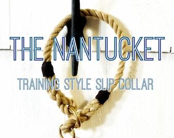 The Nantucket - Training Style Collar, Slip Collar, Rope Collar, Christmas Gift, Dog Gift