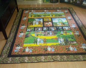 Wizard of oz quilt , handmade 68x81 inches