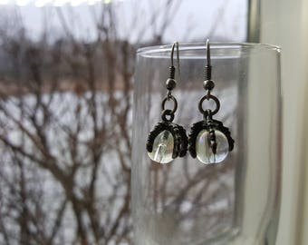 Claw Orb Earrings