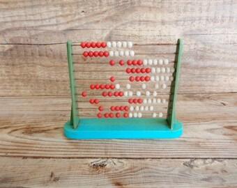 Vintage Abacus, Plastic Abacus, old rust Abacus, School Abacus, School Room Desk Decor