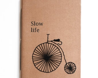 Slow life, handmade notebook for write and sketch