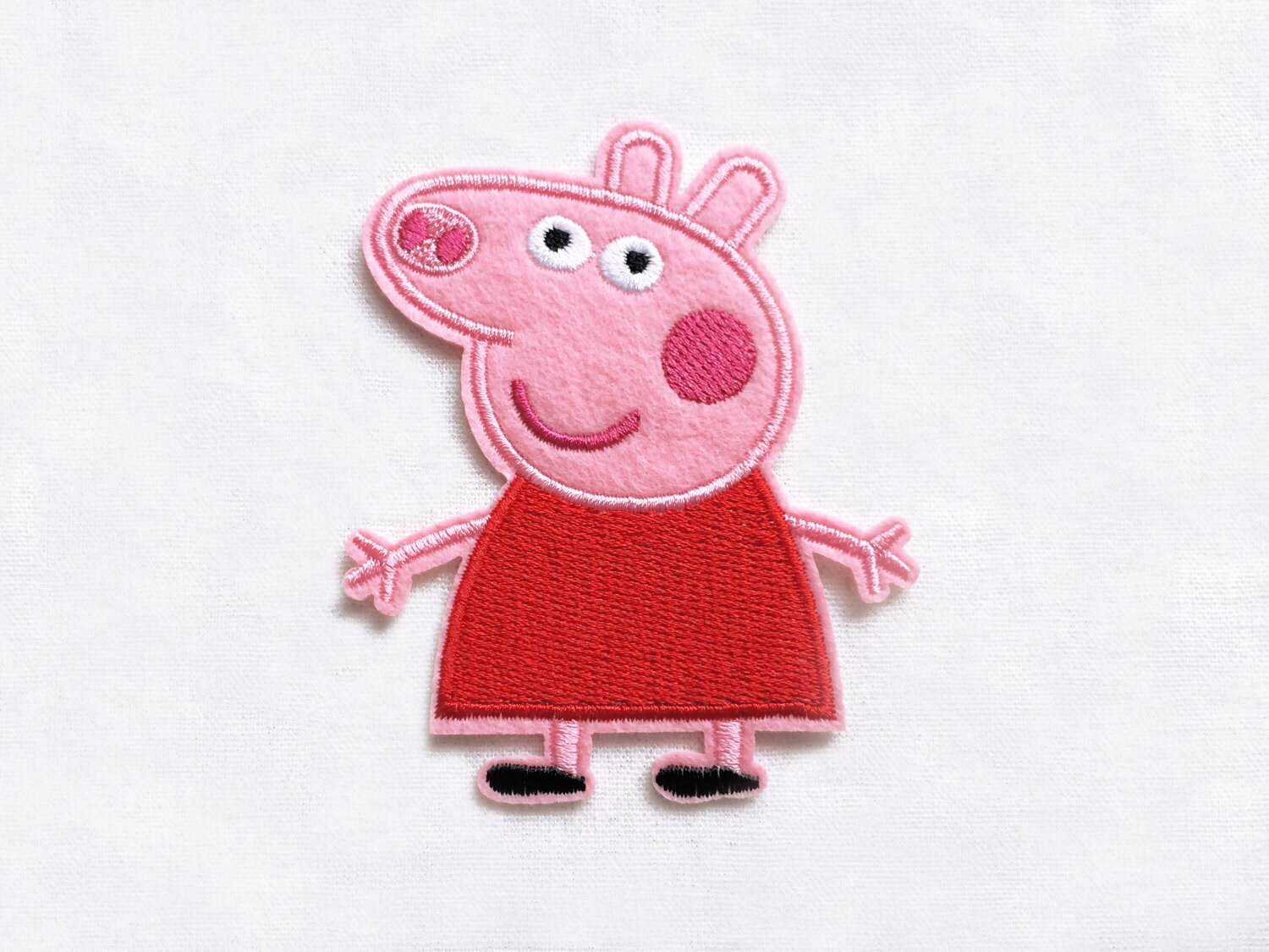 1x PEPPA PIG patch custom Iron On Embroidered Applique cartoon pink ...