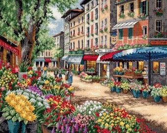 Paris Market Cross Stitch Pattern***LOOK***