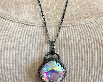 Sterling Silver and Swarovski Crystal Necklace