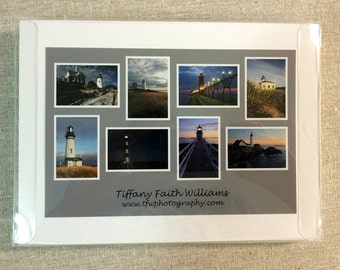 Boxed Set of 8 Note Cards - Lighthouse Images