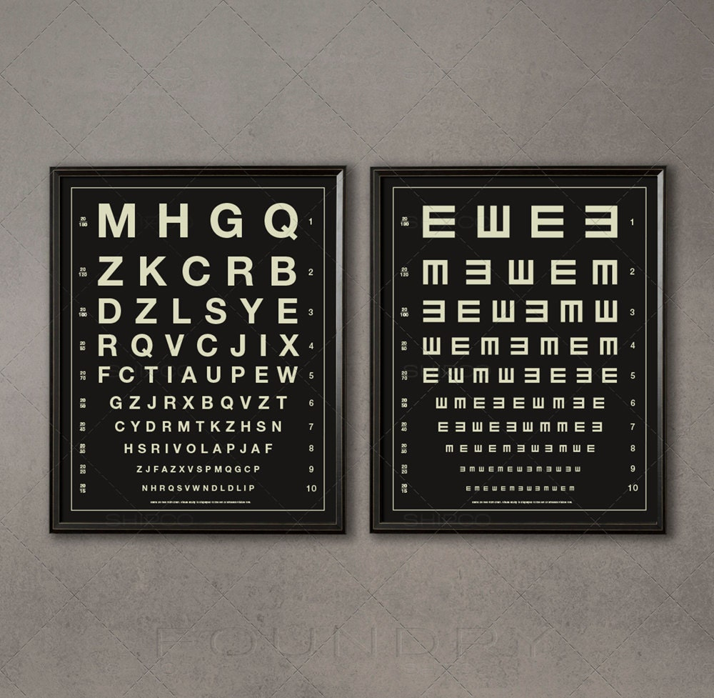 Herman snellen vintage eye charts letters tumbling zoom nvjuhfo Image collections