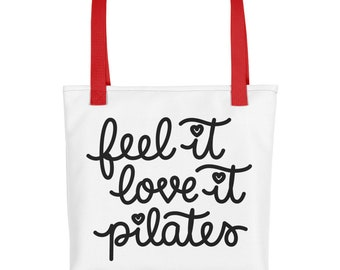 Pilates bag-Pilates Tote bag-Gift for her-Gift for Mom-5 star Review Tote bag-Made in USA-Our Feel it Love it Pilates Favorite Bag-Pilates-P