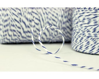 10 yards/ 9.144 m Blueberry Blue and White Twine, Bakers Twine, Divine Twine