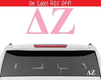 50% OFF!  Delta Zeta Decal | DZ Decal | Sorority Car Decals, Sorority Vinyl Decal, Sorority Laptop Decal, Sorority Decal