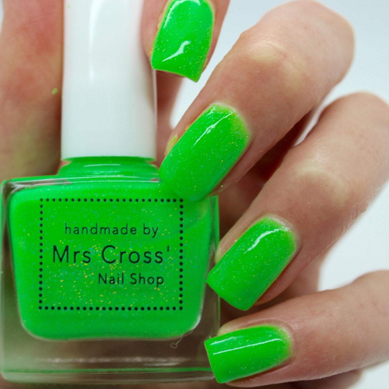 Fishnets - 5-10ml - bright green nail polish - green nail polish ...
