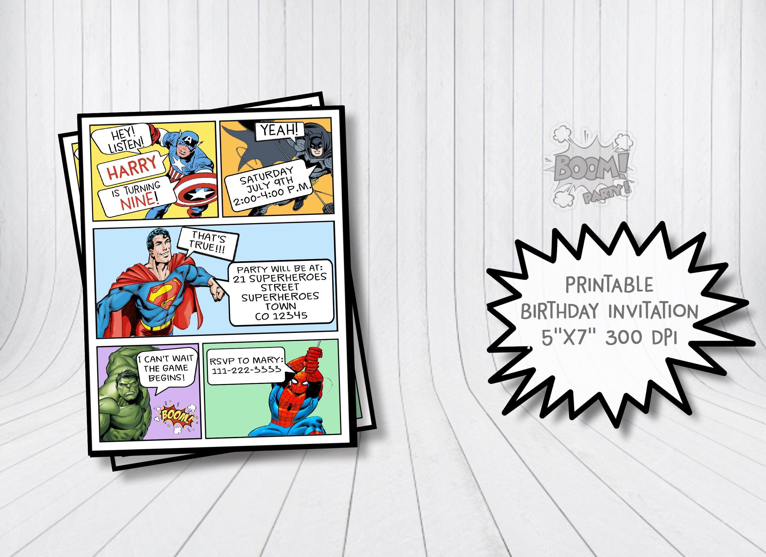 Ausgezeichnet Superhero Einladungsvorlagen Ideen - Entry Level ...