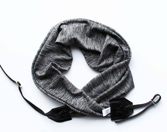 Etsy Camera Scarf Strap Super Soft Stretch Knit Style Photographer Gift 2018 | Designer Fabric USA Handmade Ready to Ship | Free US Shipping