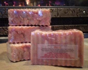 Apricot - Rustic Suds Natural - Organic Goat Milk Triple Butter Soap Bar - 5-6oz. Each