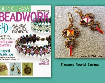 Ivonne SuperDuo Beadwork Earrings PDF Tutorial
